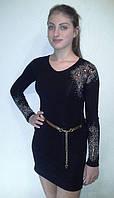 Коктейльное платье с камнями