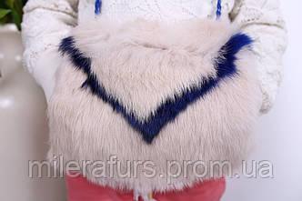 Детская муфта-сумочка из натурального меха кролика, фото 2