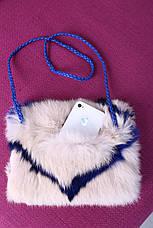 Детская муфта-сумочка из натурального меха кролика, фото 3