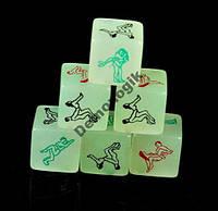 """Светящиеся игровые кубики с позами """"Камасутра"""