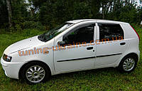 Дефлекторы окон (ветровики) COBRA-Tuning на FIAT PUNTO 1999-2003