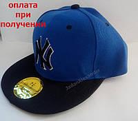 Мужская кепка, Snapback с прямым козырьком, бейсболка, реперка, NY New York, фото 1