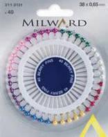 Булавки с перламутровыми головками Milward , 38х0,65мм