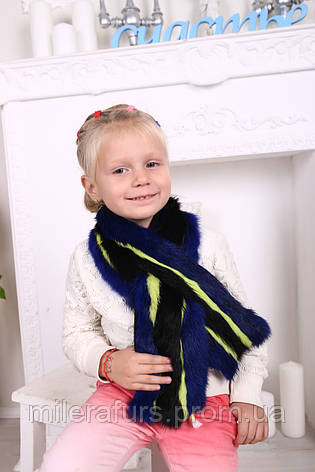 Детский шарф из натурального меха кролика, фото 2