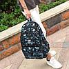 Рюкзак Adidas черный с голубыми треугольниками (реплика), фото 2