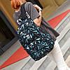 Рюкзак Adidas черный с голубыми треугольниками (реплика), фото 3