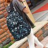 Рюкзак Adidas черный с голубыми треугольниками (реплика), фото 4