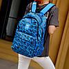 Городской рюкзак Adidas синий с черными рисунками (реплика), фото 4