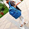 Городской рюкзак Adidas синий с черными рисунками (реплика), фото 5