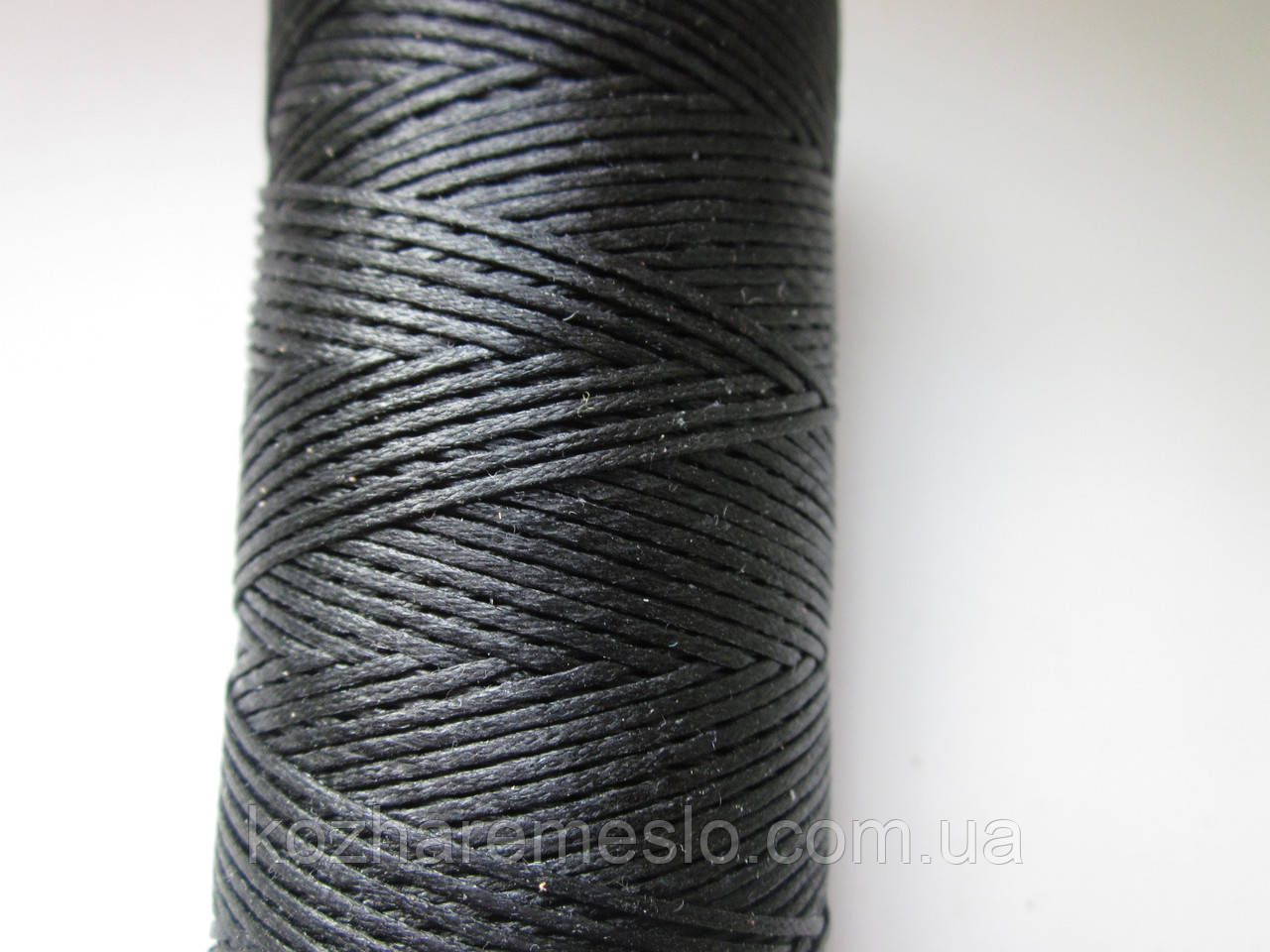 Нить вощёная плоская 0,8 мм чёрная