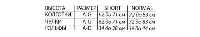Таблица размеров Pani Teresa PT 0464 PREMIUM