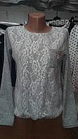 Модная подростковая кофточка с гипюром