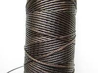 Нить вощёная плоская 0,8 мм тёмно - коричневая 125 метров