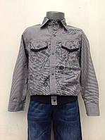 Стильная рубашка на кнопках для мальчиков 116,128 роста