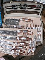 Шикарный набор ножей в кожанном чемодане 25 предметов, фото 1