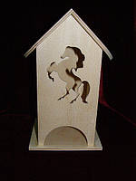 Чайный домик для декупажа конь (10 х 10 х 23 см)