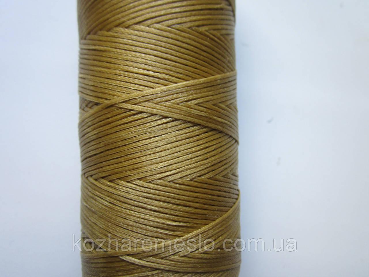 Нить вощёная плоская 0,8 мм светло-коричневая