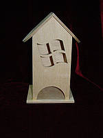 Чайный домик для декупажа окошки (10 х 10 х 23 см)