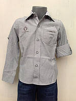 Классическая рубашка для мальчиков 110,116,122,128 роста
