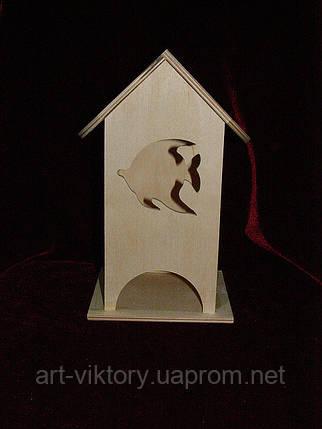 Чайный домик для декупажа рыбка (10 х 10 х 23 см), фото 2