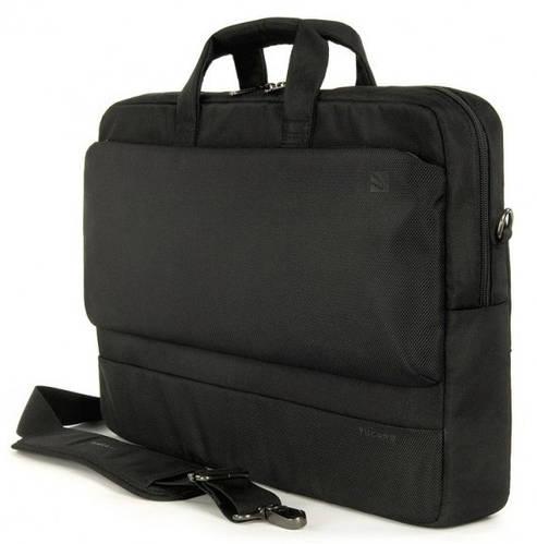 """Вместительная мужская сумка для ноутбука 17"""" Tucano Dritta (Black) BDR17 черный"""