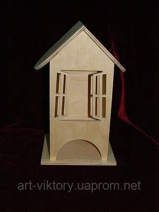 Чайный домик для декупажа открытые окна (10 х 10 х 23 см), фото 2