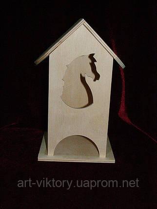 Чайный домик для декупажа конь (10 х 10 х 23 см), фото 2