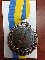Медаль спорт. C-3968-3 місце 3-бронза (метал, d-6.3см, 42g) (шт.)