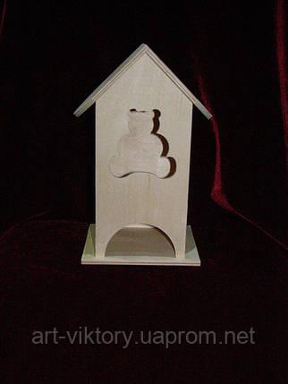 Чайний будиночок для декупажу ведмедик (10 х 10 х 23 см), фото 2