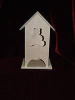 Чайный домик для декупажа мишка (10 х 10 х 23 см)