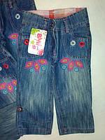 Детские джинсы бриджи на девочкуТурция С пуговицами1,2,3,4