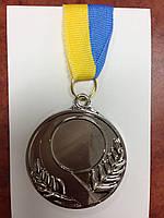 Заготовка для спорт. медалі SKILL d-5см C-4845-2 місце 2-срібло (метал, d-5см, 25g, на стрічці)