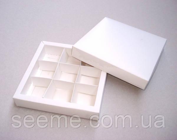 Коробка подарочная для конфет 145х145х30 мм.