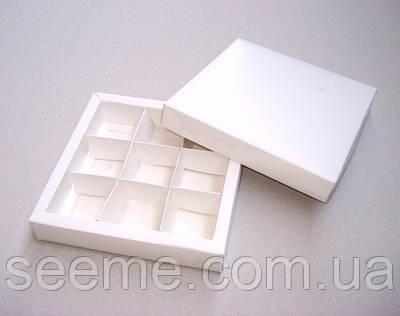 Коробка подарункова для цукерок 145х145х30 мм.