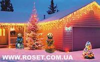 Світлодіодна гірлянда 120 LED Бахрома-Дощ з зірками 3 метри