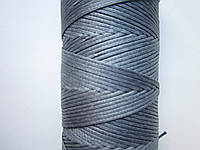 Нить вощёная плоская 1,1 мм светло-серая