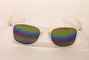 Очки wayfarer зеркальные радужные (1028-60), фото 2