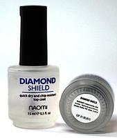 "Naomi Diamond Shield, быстросохнущий закрепитель ""Алмазный Блеск"", 15мл."