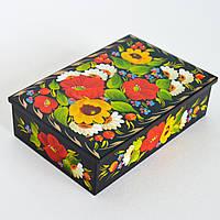 Украинские сувениры. Шкатулка для украшений. Мак, подсолнух
