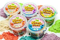 Кинетический песок для творчества 3000 гр + Формочки Украина Supergum kinetic sand, живой песок