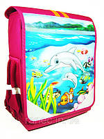 Ортопедический школьный рюкзак  Tiger 1904 дельфины