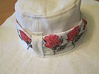 Шляпа шикарная лен 100% ручная работа/ модель универсальная