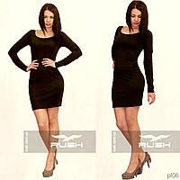 Маленькое черное платье с цепочкой