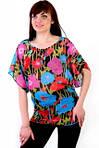 Блуза кимано шифоновая летняя свободная туника пляж 022-5, фото 2