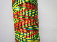 Нить вощёная плоская 0,8 мм разноцветная (африкано)