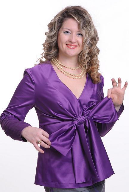 Блуза женская из хлопка стрейчевая