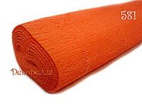 Гофрированная бумага, Италия (581 оранжевый)