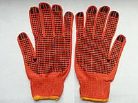 Перчатки универсальные с ПВХ точками 5 пар по 7 гр