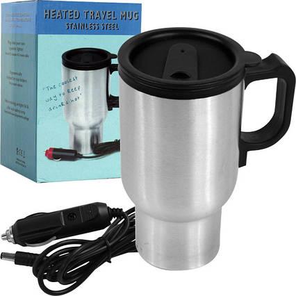 Термокружка з підігрівом Heated Travel Mug (Stainless Steel), фото 2