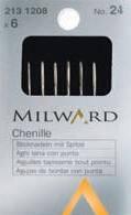 Иглы шенильные для вышивания Milward, №18-24, 6 шт.